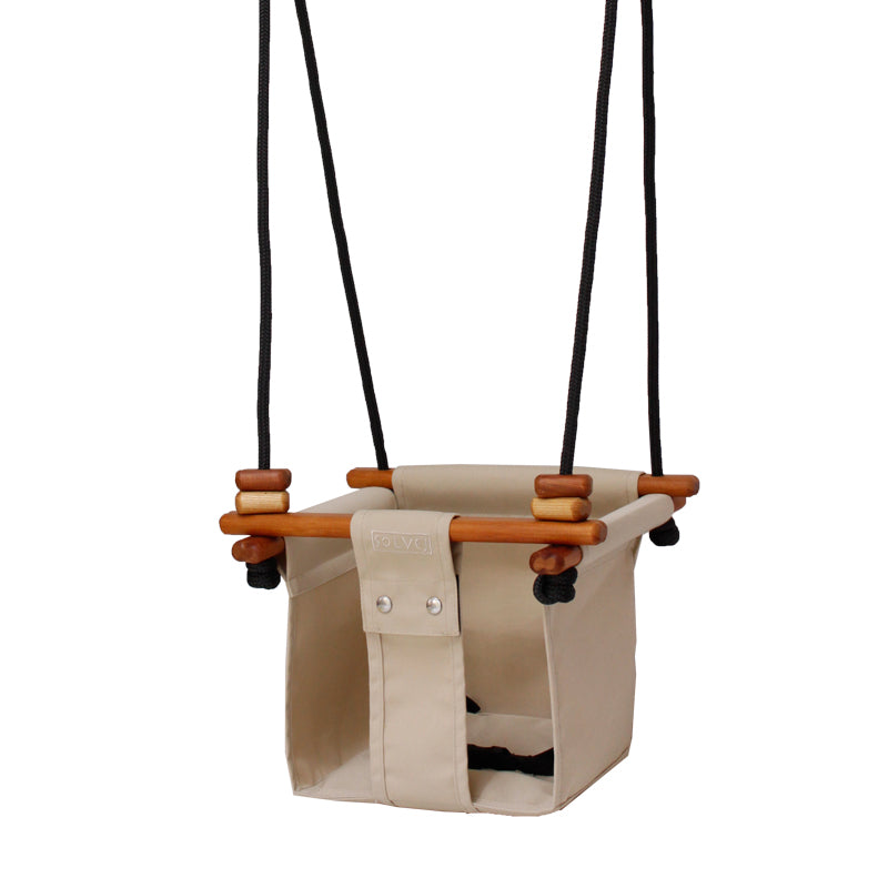 BABY TODDLER SWING - SOFT LINEN