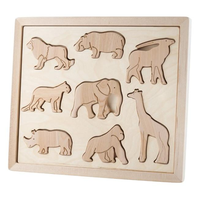 ANIMALS OF AFRICA WOODEN PUZZLE