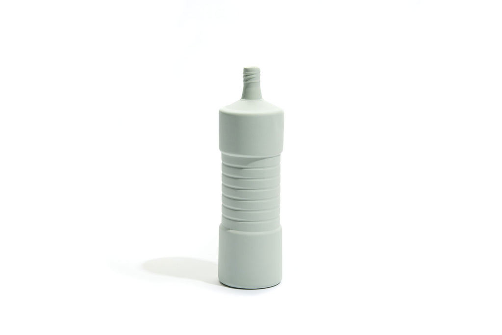 FOEKJE FLEUR X MK CERAMICS RIBBED BOTTLE - MINT