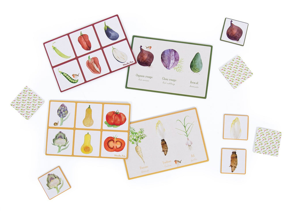 JARDIN VEGETABLE LOTTO & MEMORY GAME