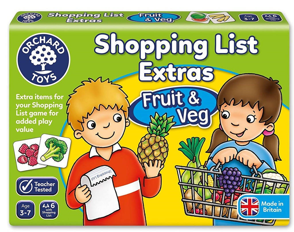 SHOPPING LIST BOOSTER - FRUIT AND VEGETABLES