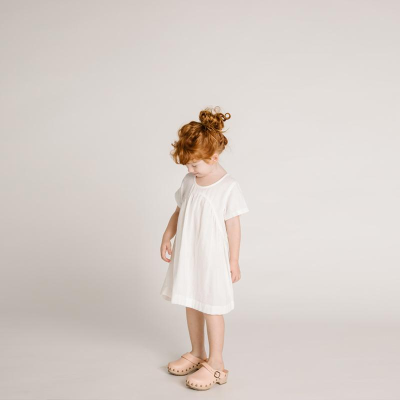 CLOVER TODDLER DRESS - IVORY - S