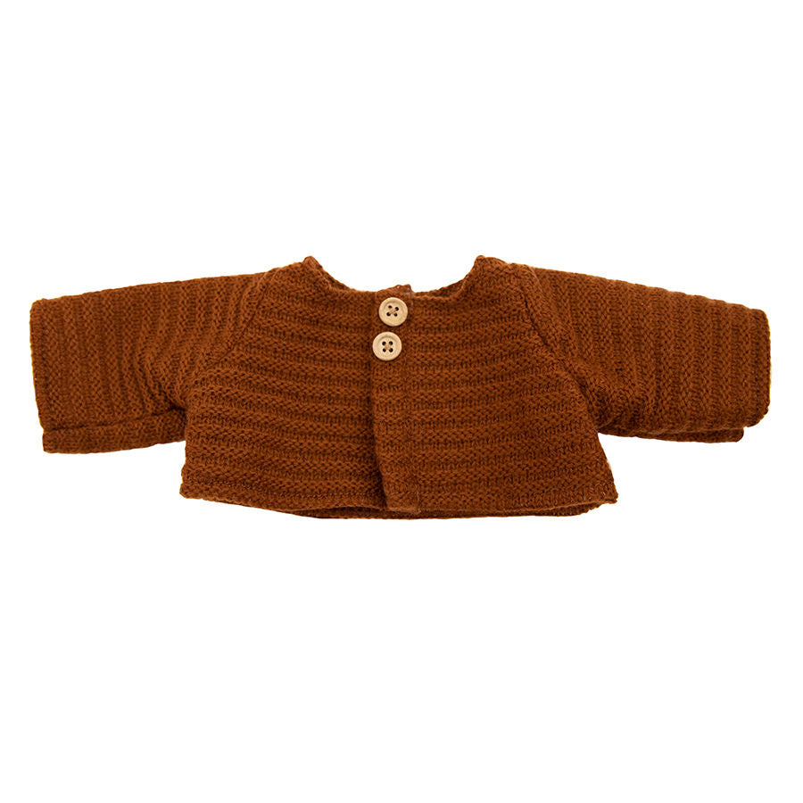 DINKUM DOLLS CARDIGAN - CHESNUT