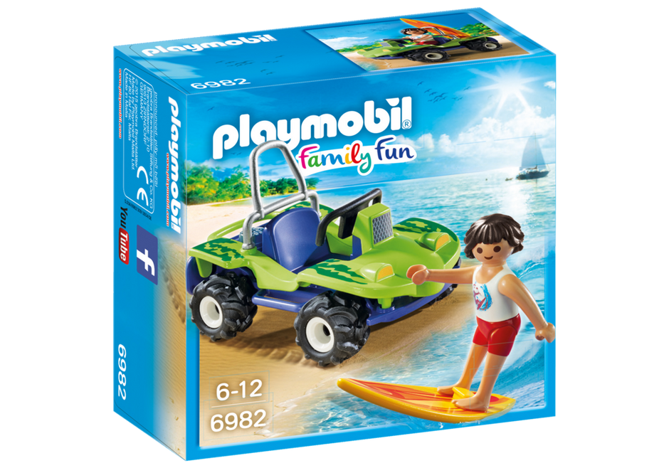 PLAYMOBIL SURFER WITH BEACH QUAD BIKE