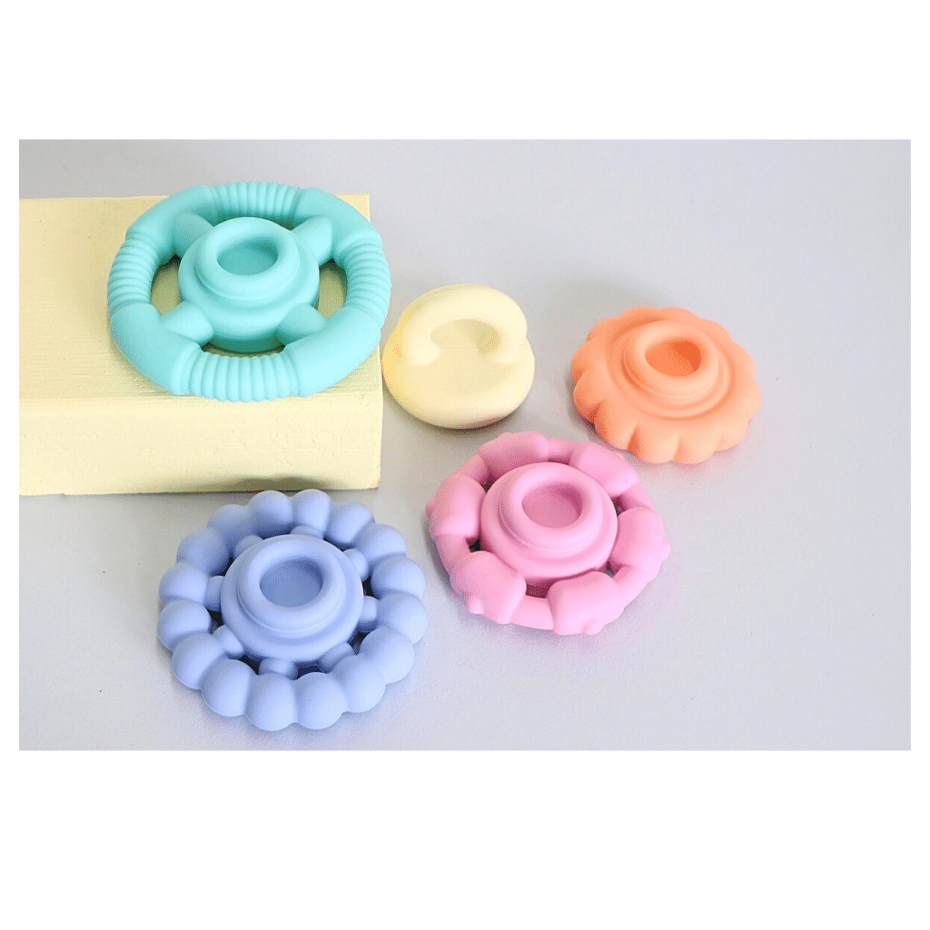 RAINBOW STACKER PASTEL TEETHER & TOY