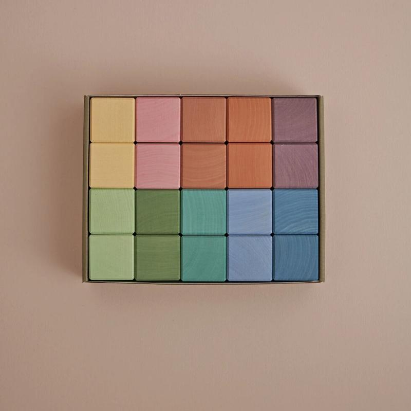 RADUGA GREZ -  EARTH PASTEL CUBES 20PC