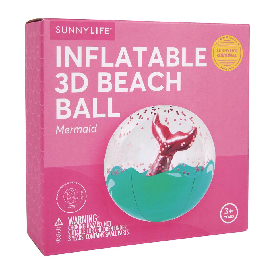 INFLATABLE 3D BEACH BALL - MERMAID