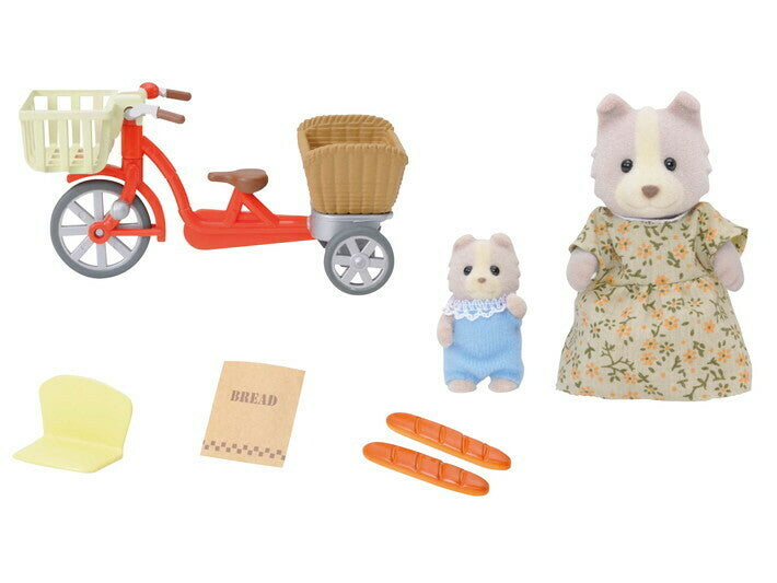 SYLVANIAN CYCLING WITH MOTHER