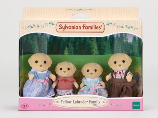 SYLVANIAN YELLOW LABRADOR FAMILY
