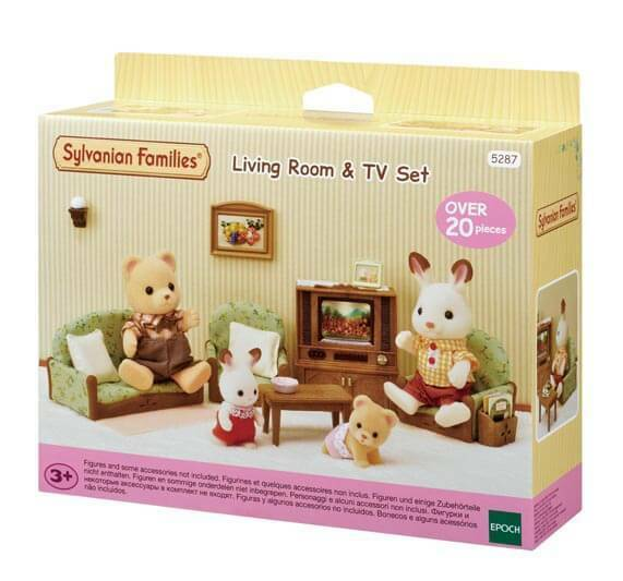 SYLVANIAN LIVING ROOM & TV SET