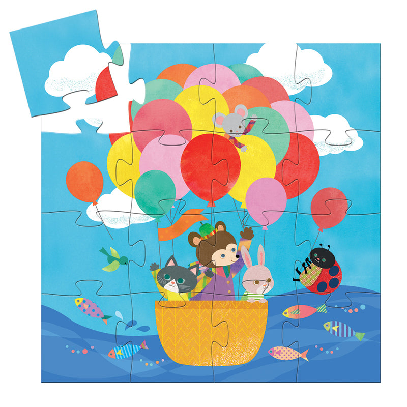 SILHOUETTE PUZZLE HOT AIR BALLOON 16PC