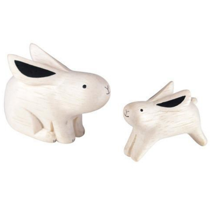 POLE POLE ANIMAL PAIR - RABBIT