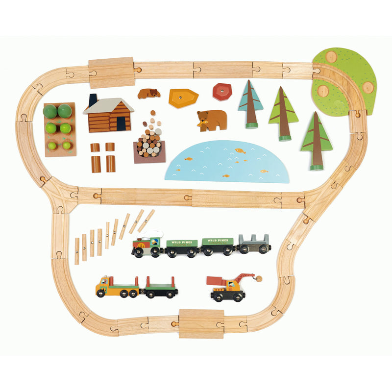 WILD PINES TRAIN SET - 30PC