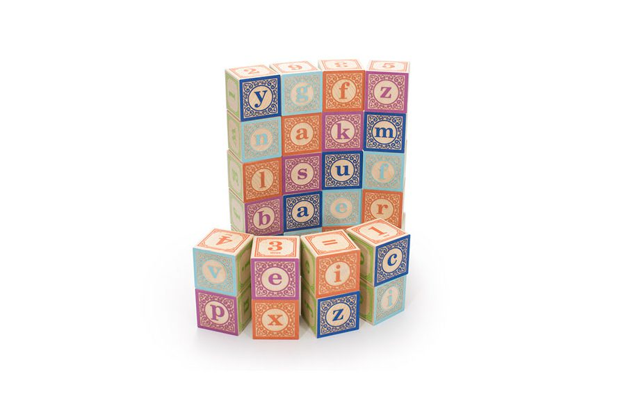 CLASSIC LOWER CASE ABC BLOCKS 28 PC