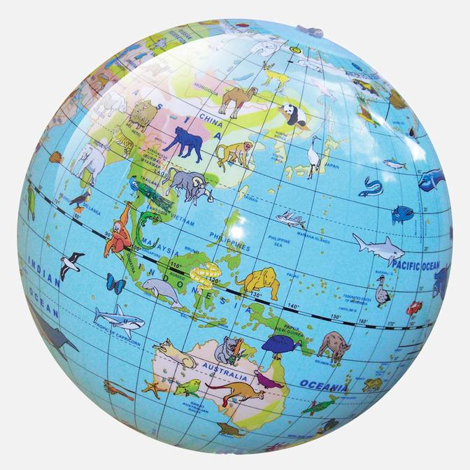 WORLD GLOBE 30CM - ANIMALS