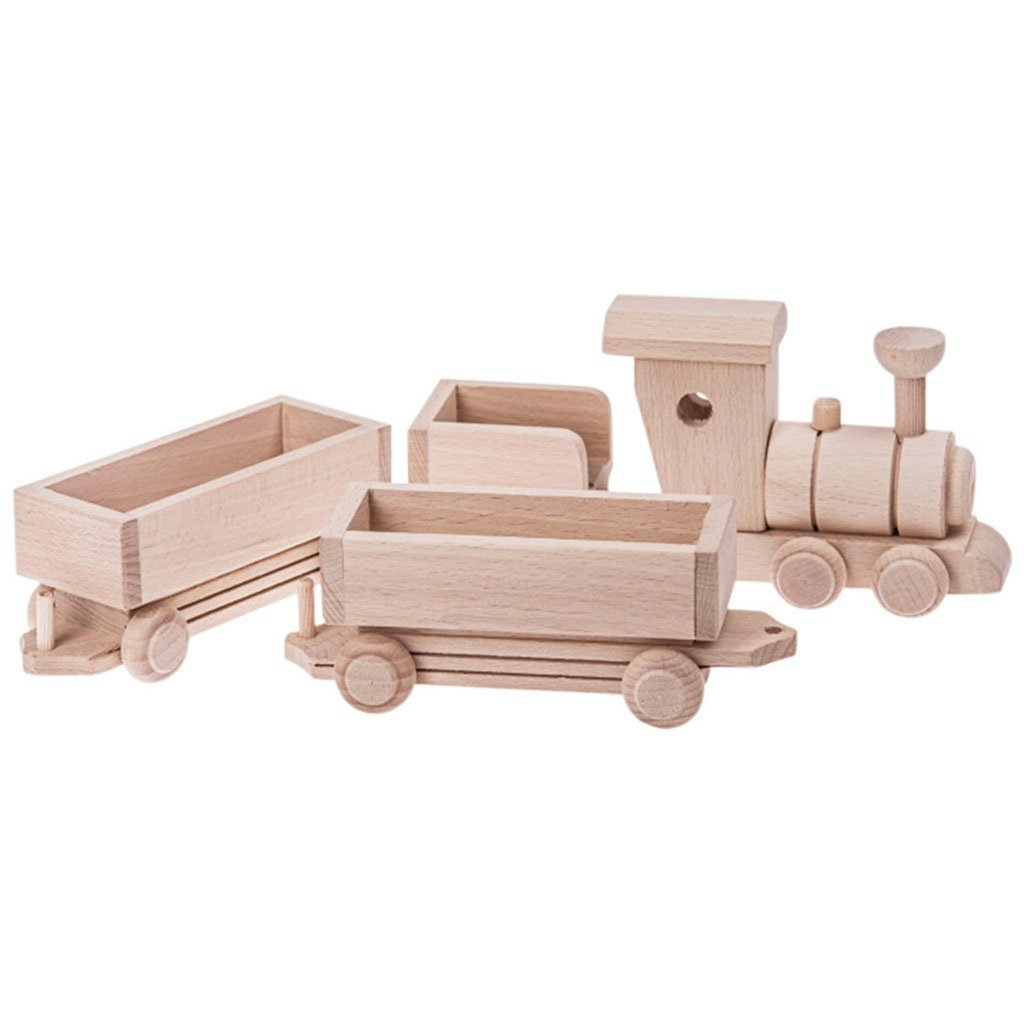 WOODEN CARGO TRAIN SET 3PC - PEARL