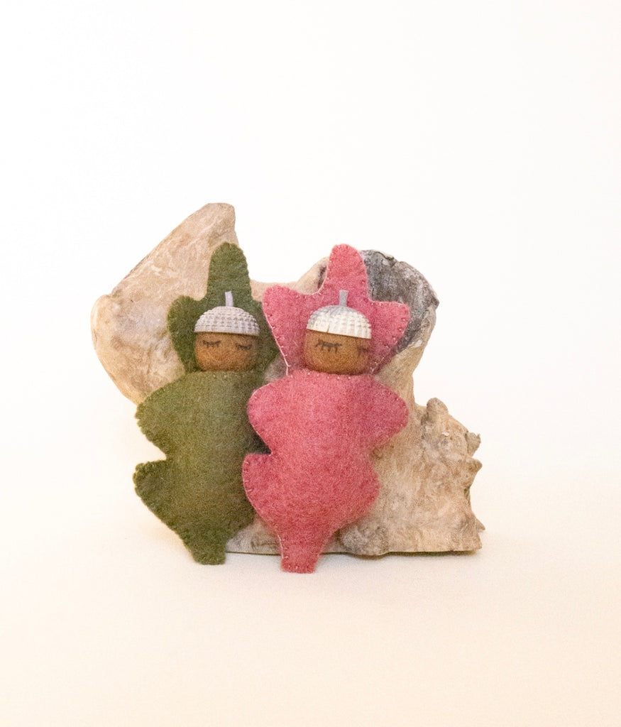 PAPOOSE - ACORN BABIES SET 2 - OCHRE & OLIVE