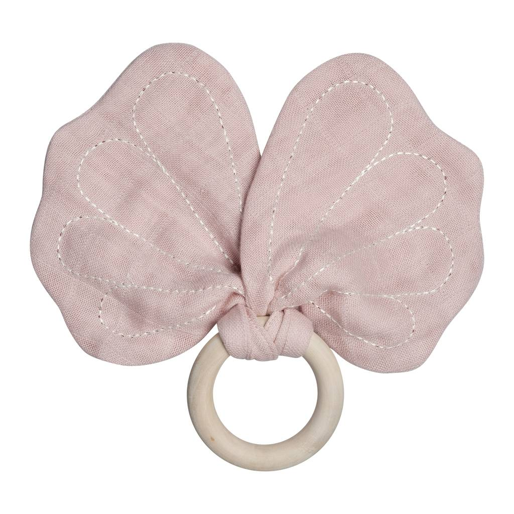 FABELAB - BUTTERFLY TEETHER - DUSTY PINK