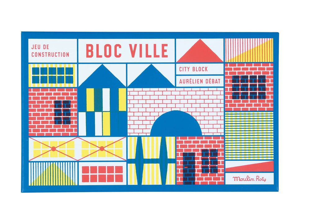DANS LA VILLE WOODEN BUILDING BLOCKS 40PC