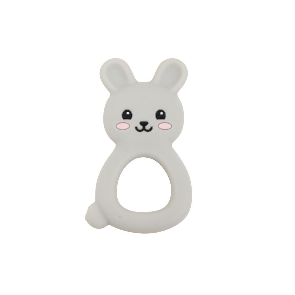 BUNNY TEETHER - SOFT GREY