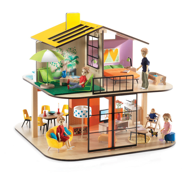 color doll house djeco