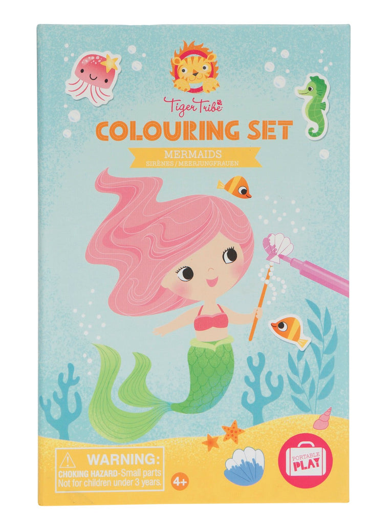 colouring set mermaids tiger tribe