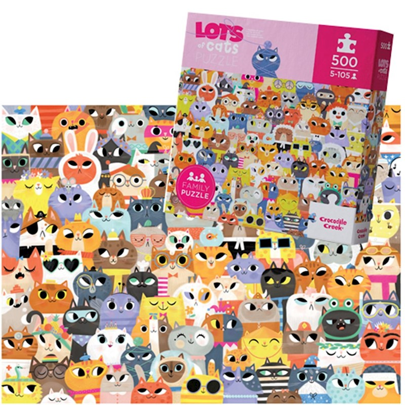 500PC LOTS OF CATS PUZZLE