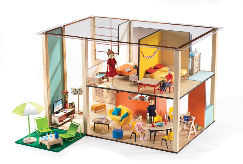 cubic doll house djeco