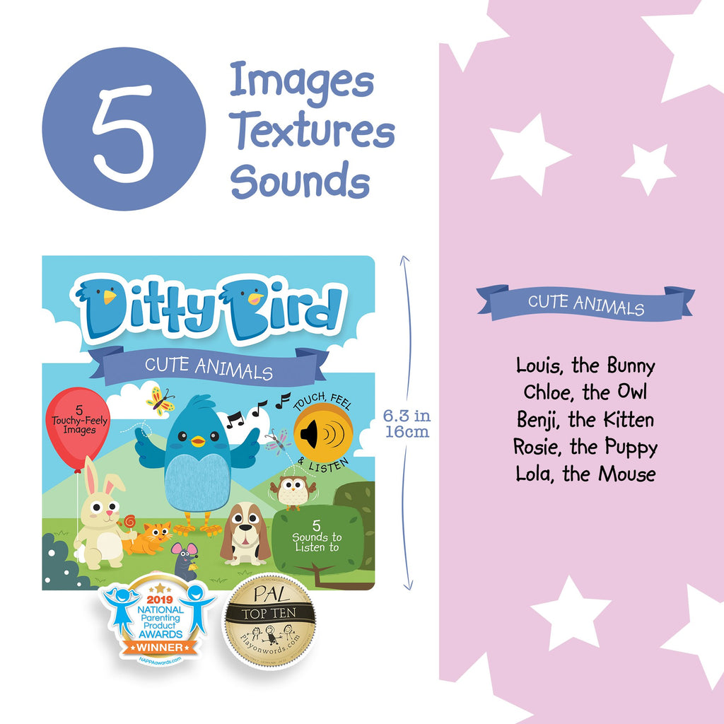 DITTY BIRD BOOK - CUTE ANIMALS