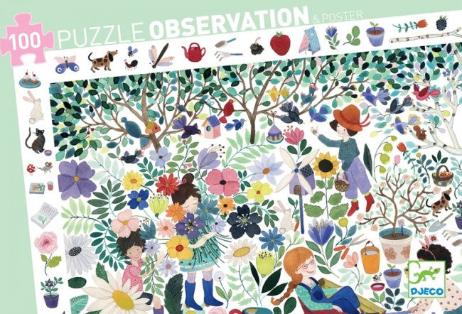 OBSERVATION PUZZLE - THOUSAND FLOWERS 100PC