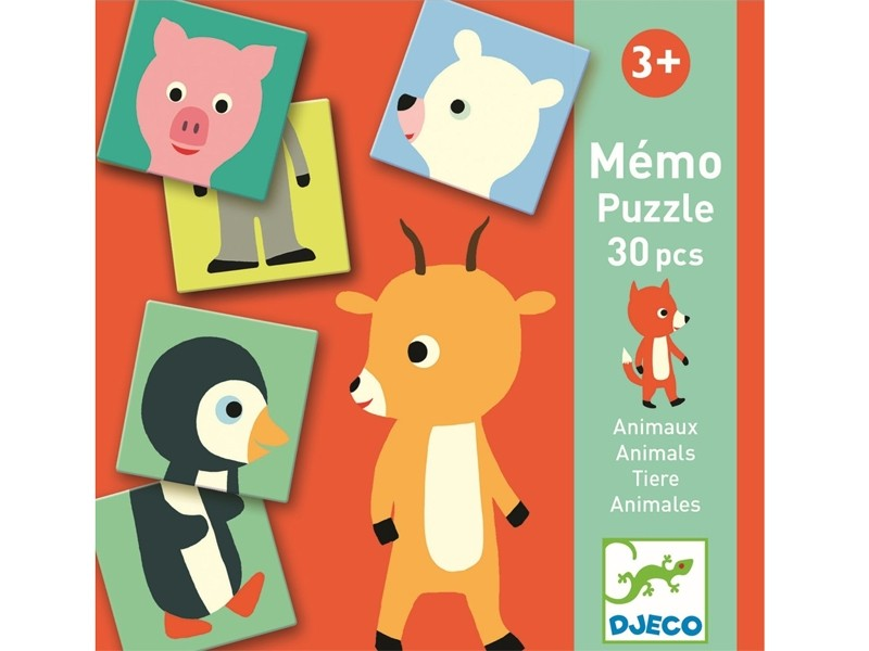 DJECO MEMO PUZZLE ANIMALS