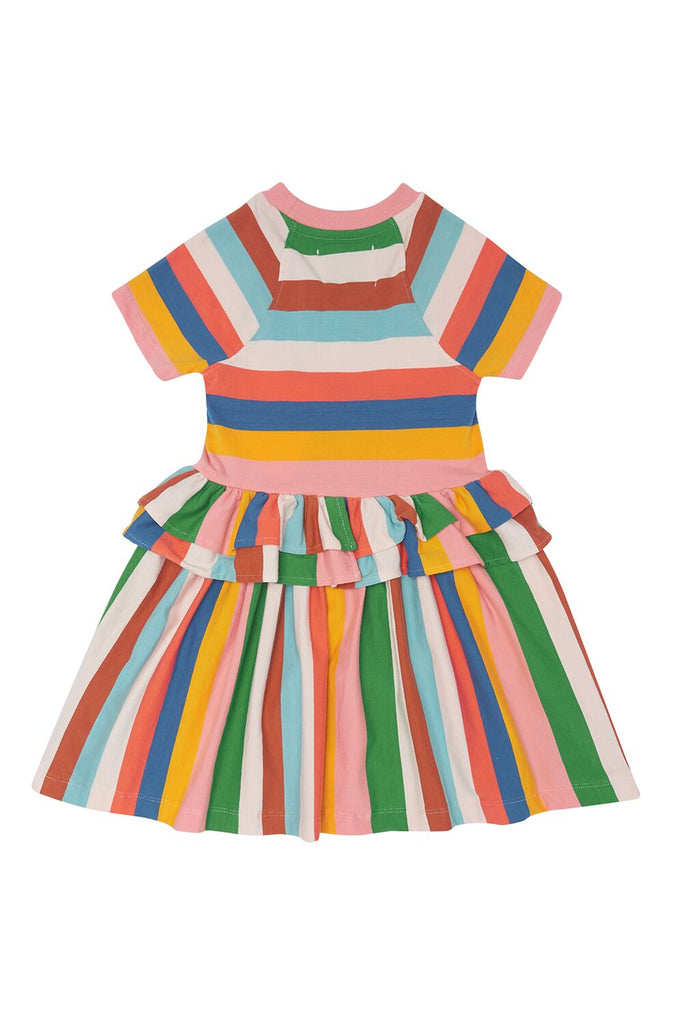 THE MIDDLE DAUGHTER - MOVING ON DRESS - MULTI-STRIPE - 5-6YR