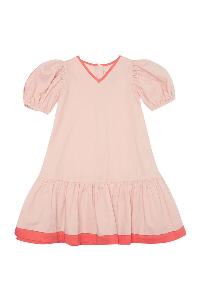 THE MIDDLE DAUGHTER - PUFF THE MAGIC DRAGON DRESS - EAU DE ROSE 7-8YR