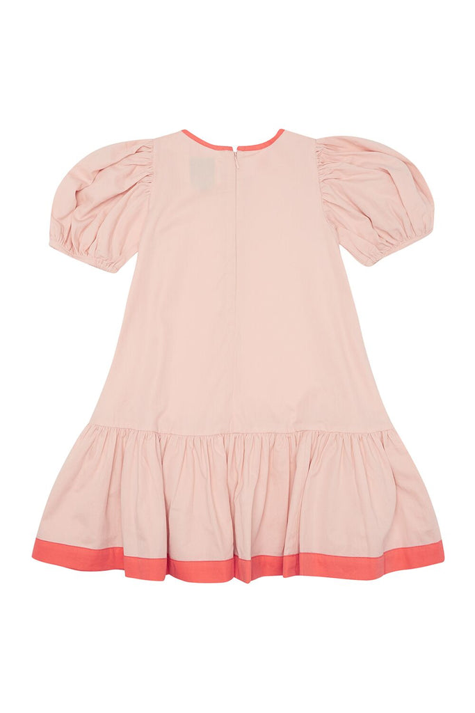 THE MIDDLE DAUGHTER - PUFF THE MAGIC DRAGON DRESS - EAU DE ROSE 5-6YR