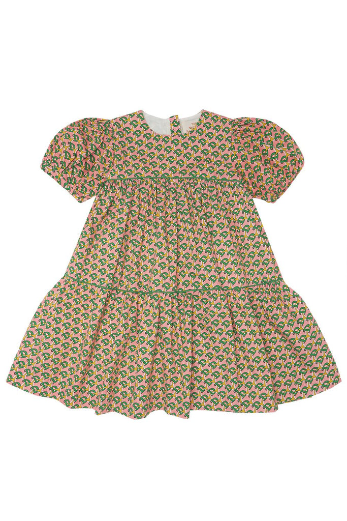 THE MIDDLE DAUGHTER - TIERY EYED DRESS - D PRINT - 4YR