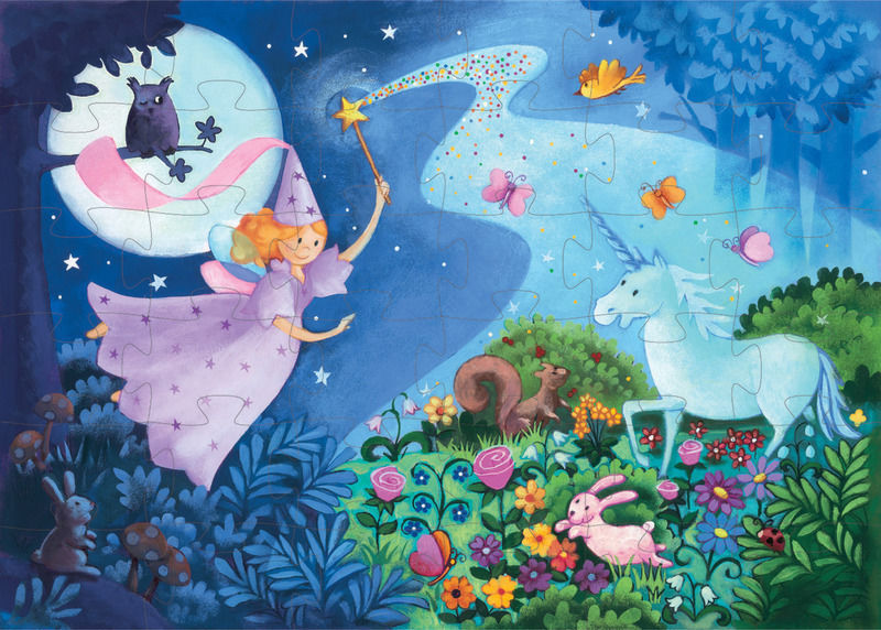 fairy and unicorn puzzle djeco