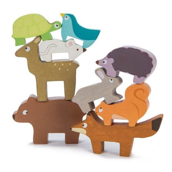forest animal toy stacker le toy van