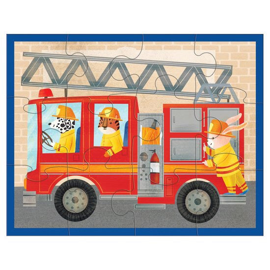fire truck pouch puzzle mudpuppy