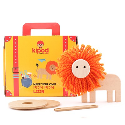 lion pom pom kit kidpod