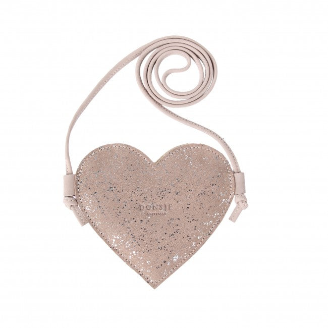 DONSJE MILO PURSE - HEART LILAC METALLIC