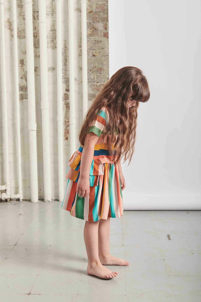 THE MIDDLE DAUGHTER - MOVING ON DRESS - MULTI-STRIPE - 2YR