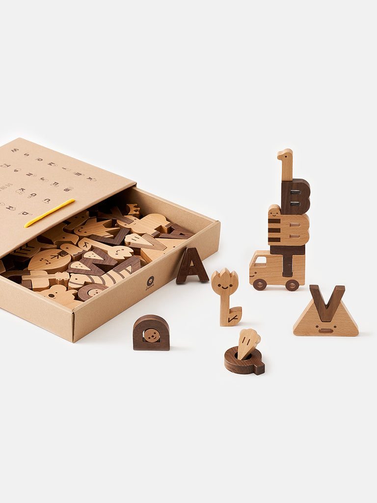 OIOIOOI - ALPHABET PLAY BLOCKS - 60 BLOCKS