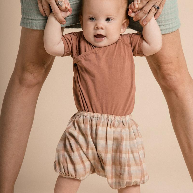 BABY BLOOMERS - ADOBE CHECK - 6 MONTHS