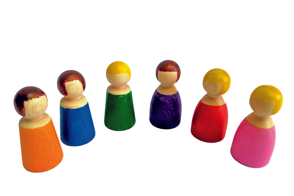 BAUSPIEL - WOODEN PEOPLE 6PC