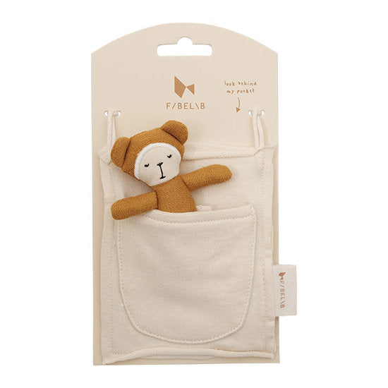 FABELAB - POCKET FRIEND BEAR - OCHRE