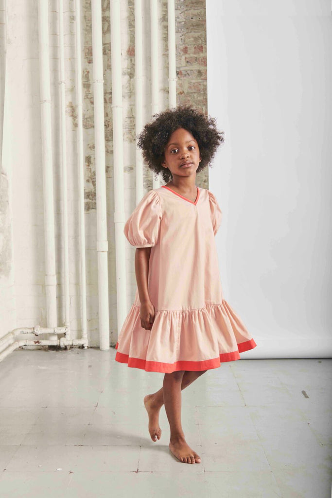 THE MIDDLE DAUGHTER - PUFF THE MAGIC DRAGON DRESS - EAU DE ROSE 2YR