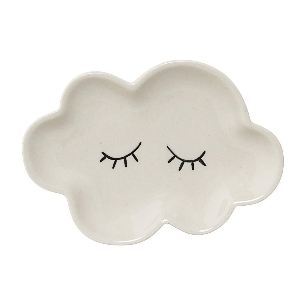 SMILLA CLOUD PLATE WHITE SMALL - BLOOMINGVILLE