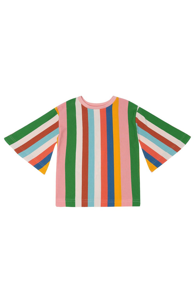 THE MIDDLE DAUGHTER - SWING INTO ACTION TOP - MULTI STRIPE - 5-6YR