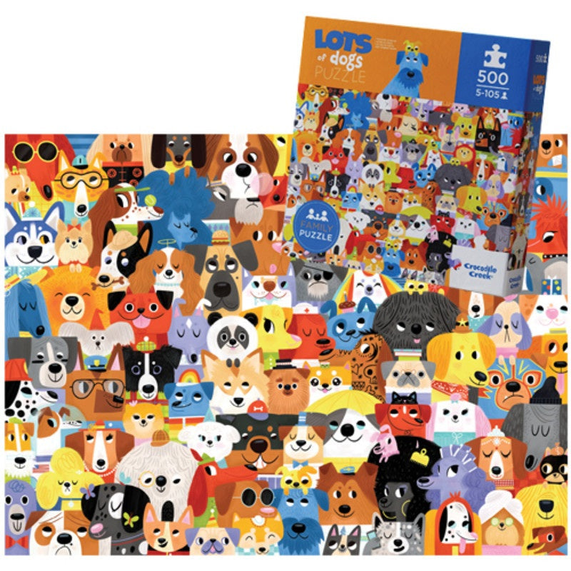 500PC FAMILY PUZZLE DOGS