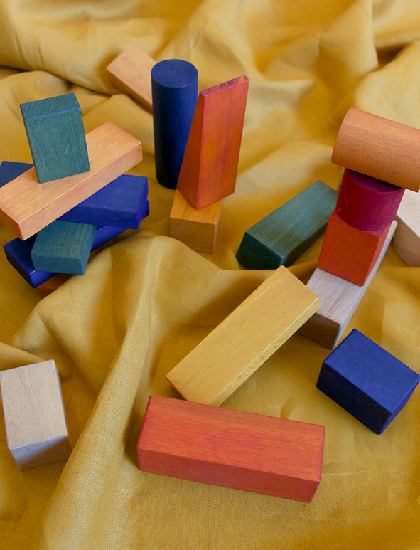 WOODEN STORY - XL RAINBOW BLOCKS 50 PIECES